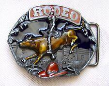 Gürtelschnalle Rodeo Stierkopf Bullridung Longhorn Steer Metall Belt Buckle
