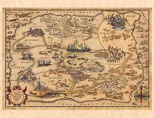 Wizard Of Oz Map Of The Marvelous Land Of Oz Dorothy