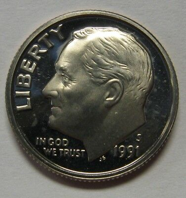 1991-S Clad Roosevelt Dime Shipped FREE Best Prices on  Nice Coins!