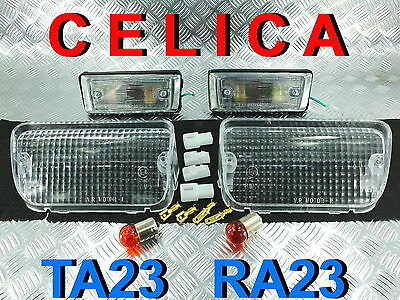 CLEAR TURN SIGNAL SIDE MARKER LIGHT FIT TOYOTA CELICA TA22 RA22 RA21 RA23 TA23