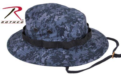 Midnight Blue Digital Camo Boonie Hat Dark Navy /& Black Camouflage Bucket Hats