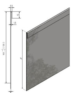 Rasenkante Edelstahl 14er sparset rasenkante falz beeteinfassung höhen 160 220mm