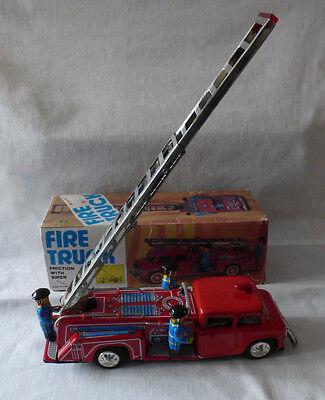 Selbstlos Fire Truck Mf 718 Blech Mit Sound Spielzeug Fw Made In China Ovp BüGeln Nicht