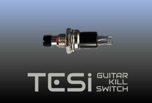 Tesi MICRO 7MM Momentary Push Button Guitar Kill Switch with Black Top