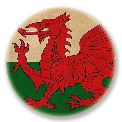 2 X Wales Welsh Flag Vinyl Sticker Laptop Travel Luggage Car #6632