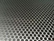 Top Kunstleder TECHNO LOOK SCHWARZ Kreis Meterware 1A Qualität 138cm breit