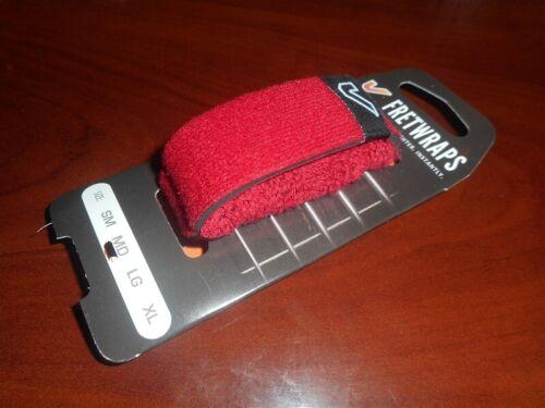 "MEDIUM RED Gruv Gear Fretwraps Professional String Muter /""Fire/"" NEW"