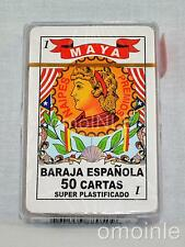 BARAJA ESPAÑOLA MAYA 50 CARDS DECK SPANISH PLAYING CARDS HIGH QUALITY NOT PAPER