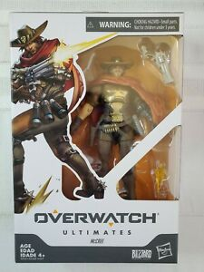 "Overwatch Ultimates Hasbro Jesse McCree Figure Collectible 6"" Blizzard Damage"