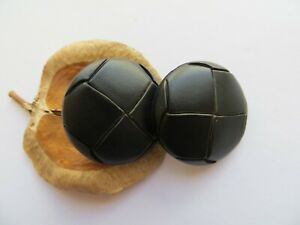 1950s-Vintage-Med-Faux-Leather-Black-Coat-Jacket-Dress-Replacement-Buttons-27mm