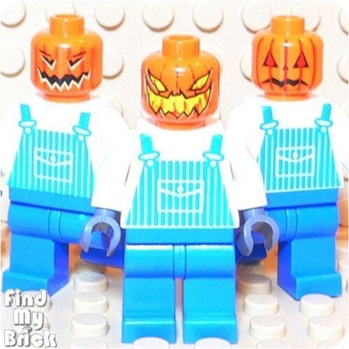 R6 Lego 3 Different Jack O/'Latern Pumpkin Minifigures NEW