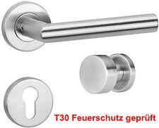 Türgriff Türdrücker Drückergarnitur Edelstahl Türbeschlag L-Form PZ FEUERSCHUTZ