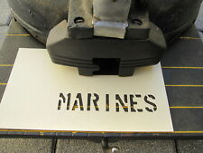 "Stencil Lackier Schablone MARINES 11/2"" Jeep Dodge US Army USMC Vietnam Navy WW2"