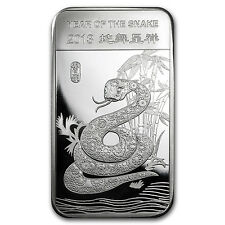2013 5 oz Year of the Snake Silver Bar - SKU #71913