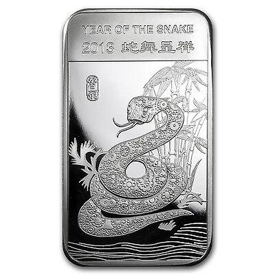 5 oz Silver Bar - APMEX (2013 Year of the Snake) - SKU #71913
