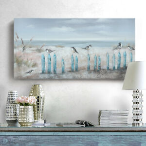 Ocean Beach Wall Art Framed Hand