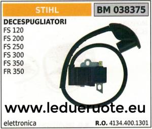 41344001301 BOBINE électronique unité de contrôle DÉBROUSSAILLEUSE STIHL FS 120