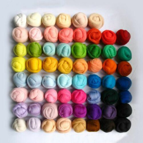Filzwolle 36 Farbe Märchenwolle Trockenfilzen Schafwolle Filzen Werkzeug Basteln
