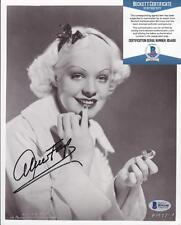 Alice Faye (d.1998) Signed 8x10 Photo Autographed Photograph BECKETT BAS
