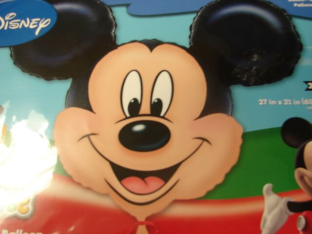 XL Mickey Mouse Face Birthday Party 27 in x 21in Super Shape Foil Balloon