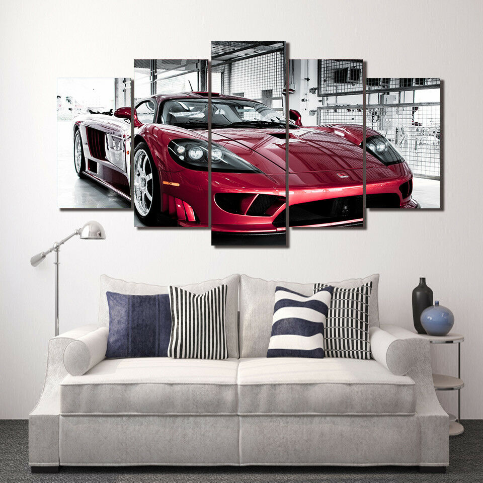 Saleen Saleen Saleen S7 Twin Turbo Car 5 Piece Canvas Print Wall Art 21a944