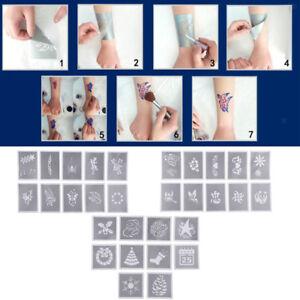 10x reusable face painting body art stencil template xmas festival
