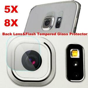 1/5/10Pcs For Samsung S6/S7 Edge Note 5 Back Camera Lens +Flash Tempered Glass