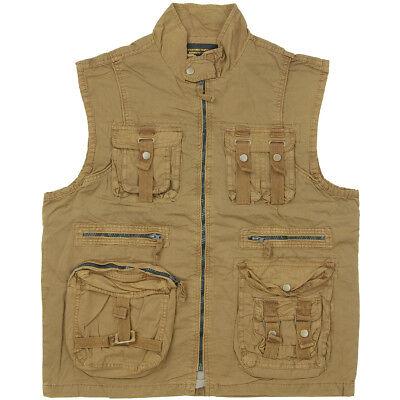NEW US Vintage Survival Vest Prewash Hunting and Fishing Waistcoat Vest S-3XL