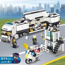 CAMION  POLIZIA E PICCOLA STAZIONE  COSTRUZIONI COMPATIBILI LEGO POLICE  CITY