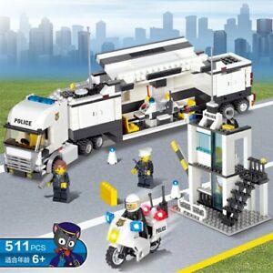 Camion polizia e piccola stazione costruzioni compatibili - Lego city camion police ...