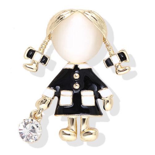 Girl Brooch Women Opal Rhinestone Crystal Brooch Pin Dress Coat Gift Jewelry JH