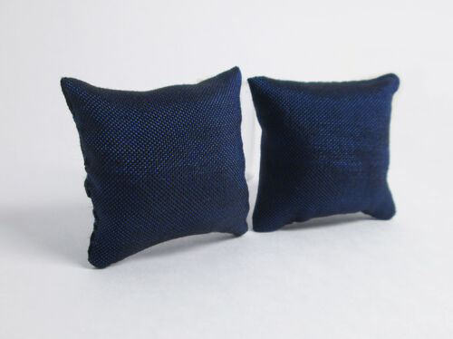 1:12 Dollhouse Miniature Furniture Bedroom Blue Sofa Couch Cushions Pillow 2Pc