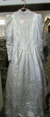 Jessica McClintock 1980s Wedding Gown (Size 12)