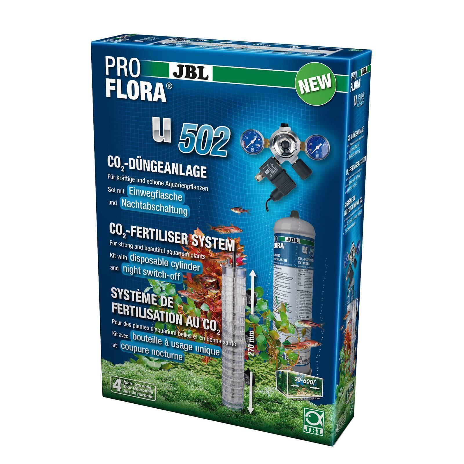 JBL ProFlora u502 co₂ - piante fertilizzanti impianto (usa e getta) CON SPEGNIMENTO notte co2