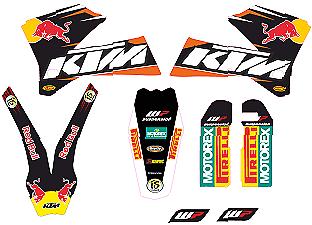 2019 Ultimo Disegno Kit De Adhesivos Para Ktm 2005-07 Exc Y Ktm 2004-06 Sx, Mx, Stickers, Graphics Vari Stili