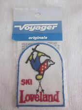 Vintage Embroidered Ski Loveland Patch Voyager Brand NOS Made in USA