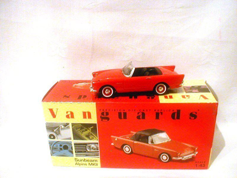 Corgi Vanguards Sunbeam Alpine Mk 2 Red  VA07000