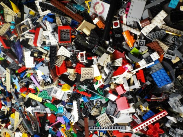 LEGO 100 NEW MEDIUM SIZED ASSORTED MIXED PIECES BRICKS PLATES SPECIALITY PARTS