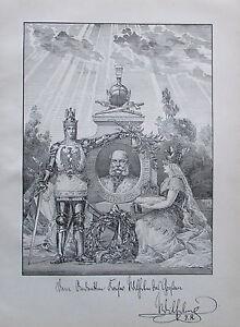 KAISER-WILHELM-DER-GROssE-alter-Druck-aus-ca-1897-print
