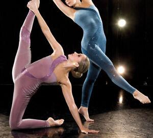Awish-Come-True-Blue-Steel-One-Piece-Dance-Gymnastics-Tap-Jazz-Costume-NEW-LC