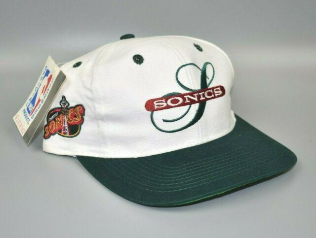 Seattle Sonics Twins Enterprise NBA Vintage 90's Men's Snapback Cap Hat - NWT