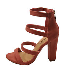 d64898091f Women's Shoes Bamboo Limelight 49m Strappy Chunky Heel Sandals Mauve ...