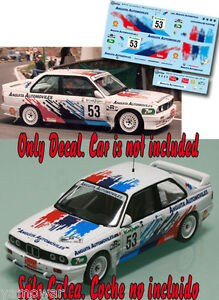 Decal-1-43-Alfredo-Sarmiento-BMW-M3-Rally-El-Corte-Ingles-1995