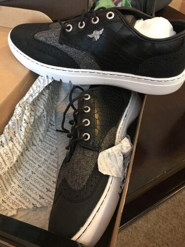 Herren Weiß Croc Fashion Schwarz Sneakers Freizeit 9m Defeo Kreative aqwnvBPn