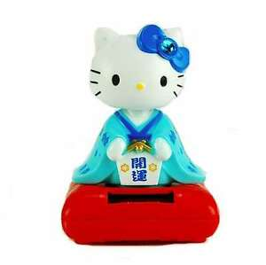 Solar-Toy-Blue-Geisha-Girl-Hello-Kitty-Sanrio-Japanese-Chinese-Cat-Kitty-4-25-034