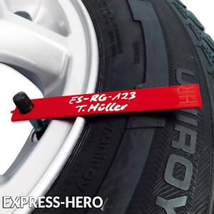 Reifenmarkierung Reifenmerker Radeinlagerung Ventilkappe Reifenkennzeichnung