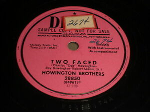 Howington-Brothers-Two-Faced-Tennessee-Rooster-Fight-78-Decca-28850