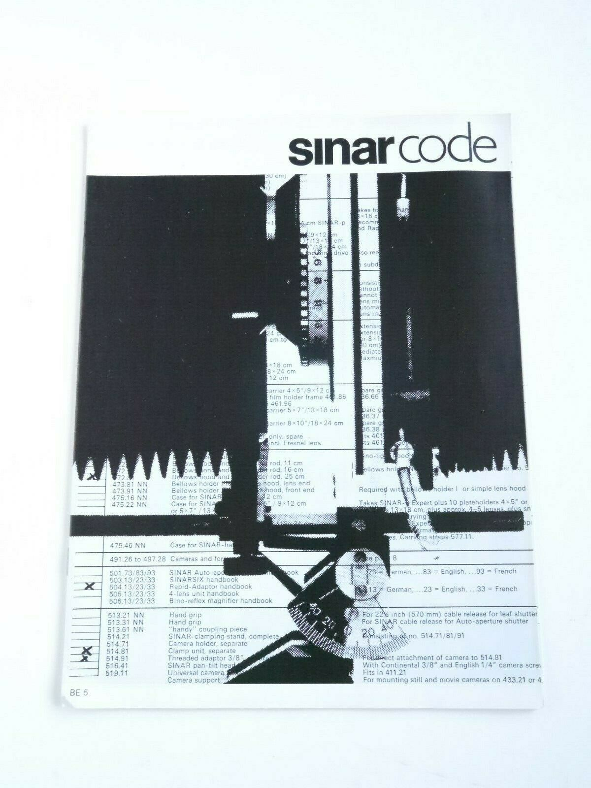 Sinar Code : Guide to the Sinar System : Sinar P & F