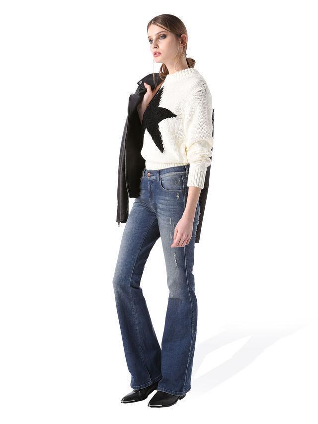 NEW DIESEL SANDY B 084BI Stretch BOOTCUT LEG JEANS women W27 L32 size uk 8-10