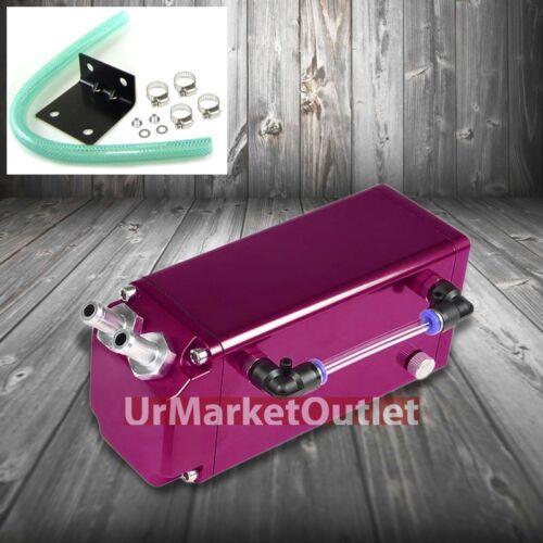Purple Square Style Universal Aluminum Oil//Fuel Catch Tank//Can Reservoir Turbo